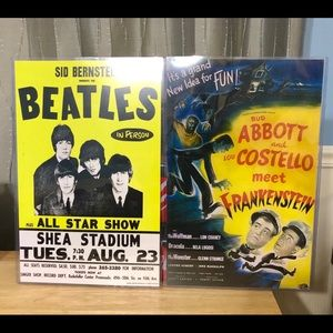 Posters Beatles and Abbott & Costello